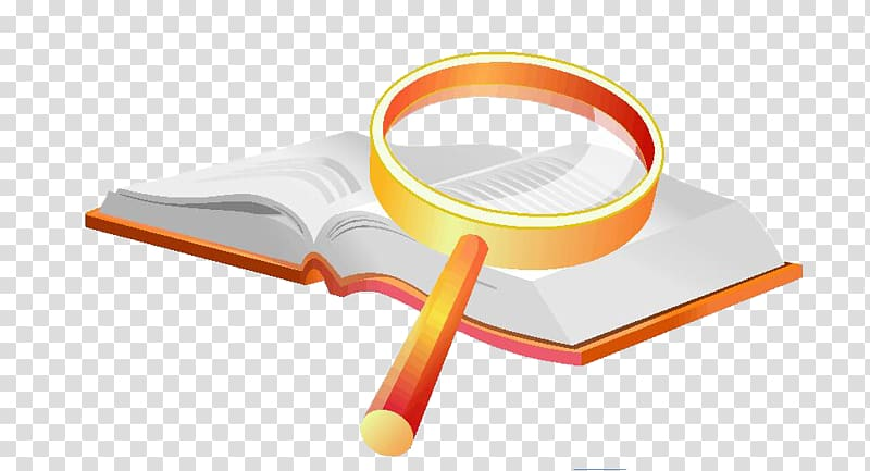 Light Magnifying glass Animation, Magnifying glass on books.