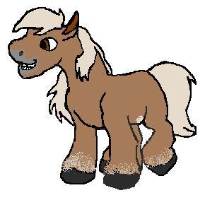 Mini horse clip art.