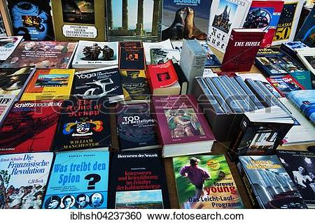 Stock Photography of Book market, many German books iblhsh04237360.