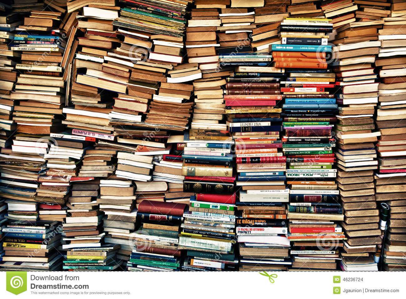 Loads Of Books Editorial Stock Image.
