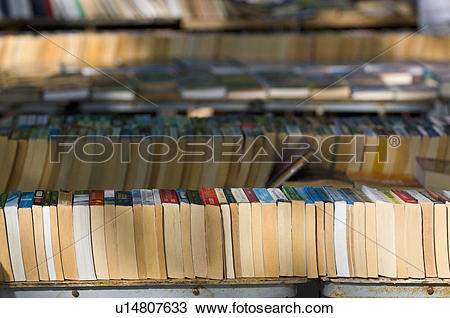Stock Photo of England, London, South Bank , Second hand book.