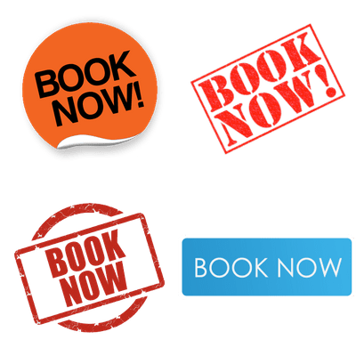 Book Now Buttons transparent PNG images.
