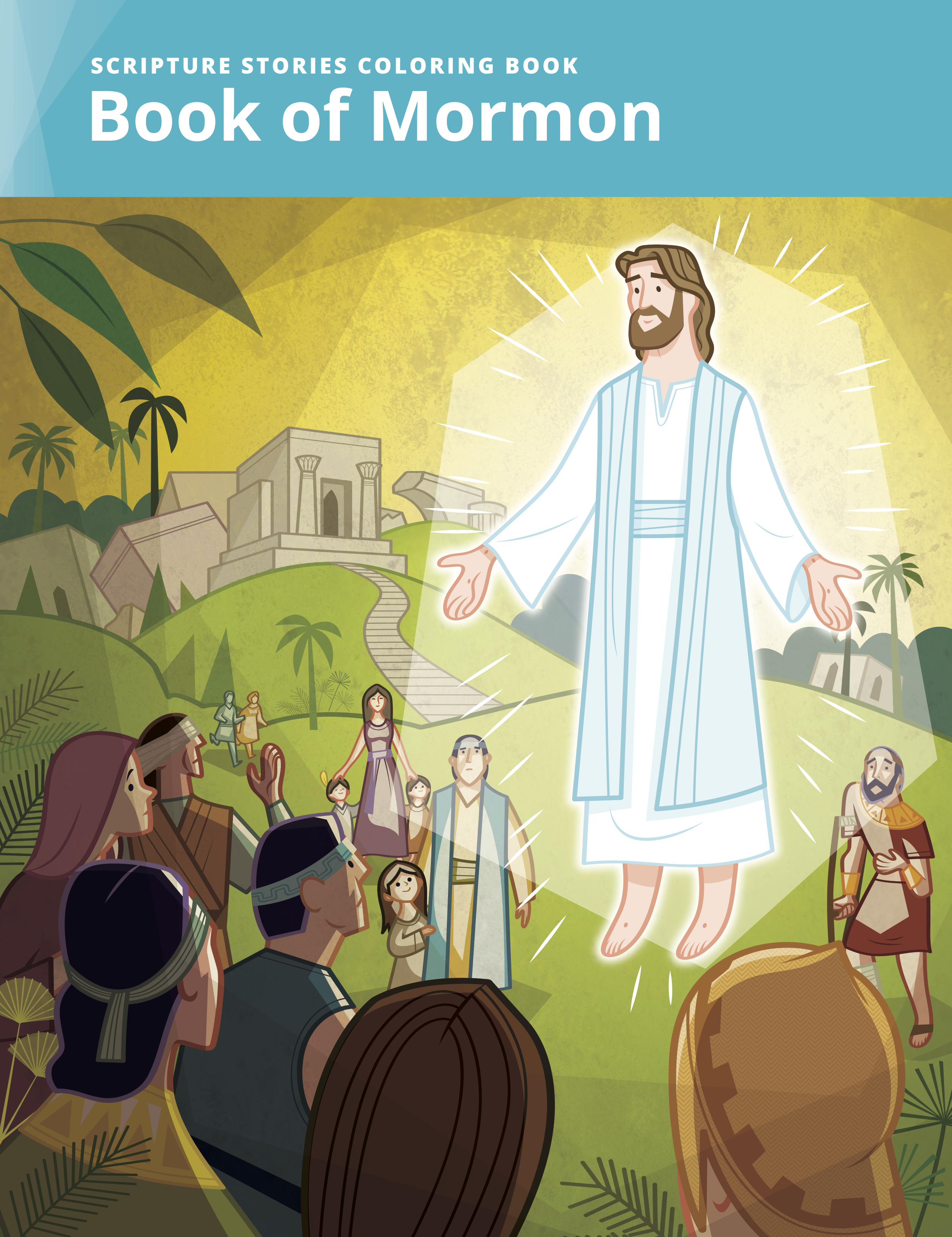 Scripture Stories Coloring Book: Book of Mormon.