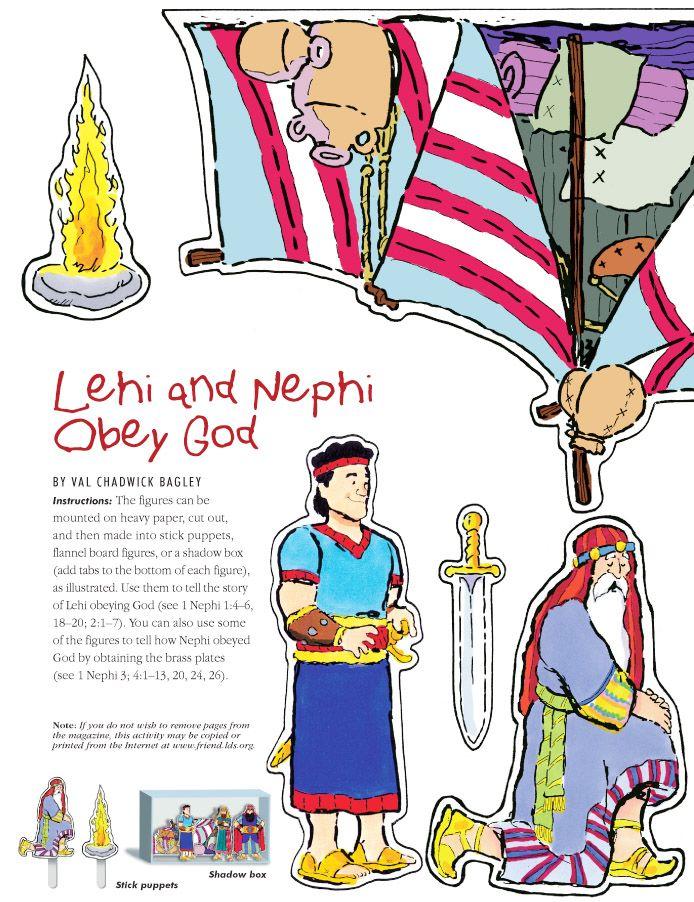 Nephi & Lehi Obey God flannel board story.