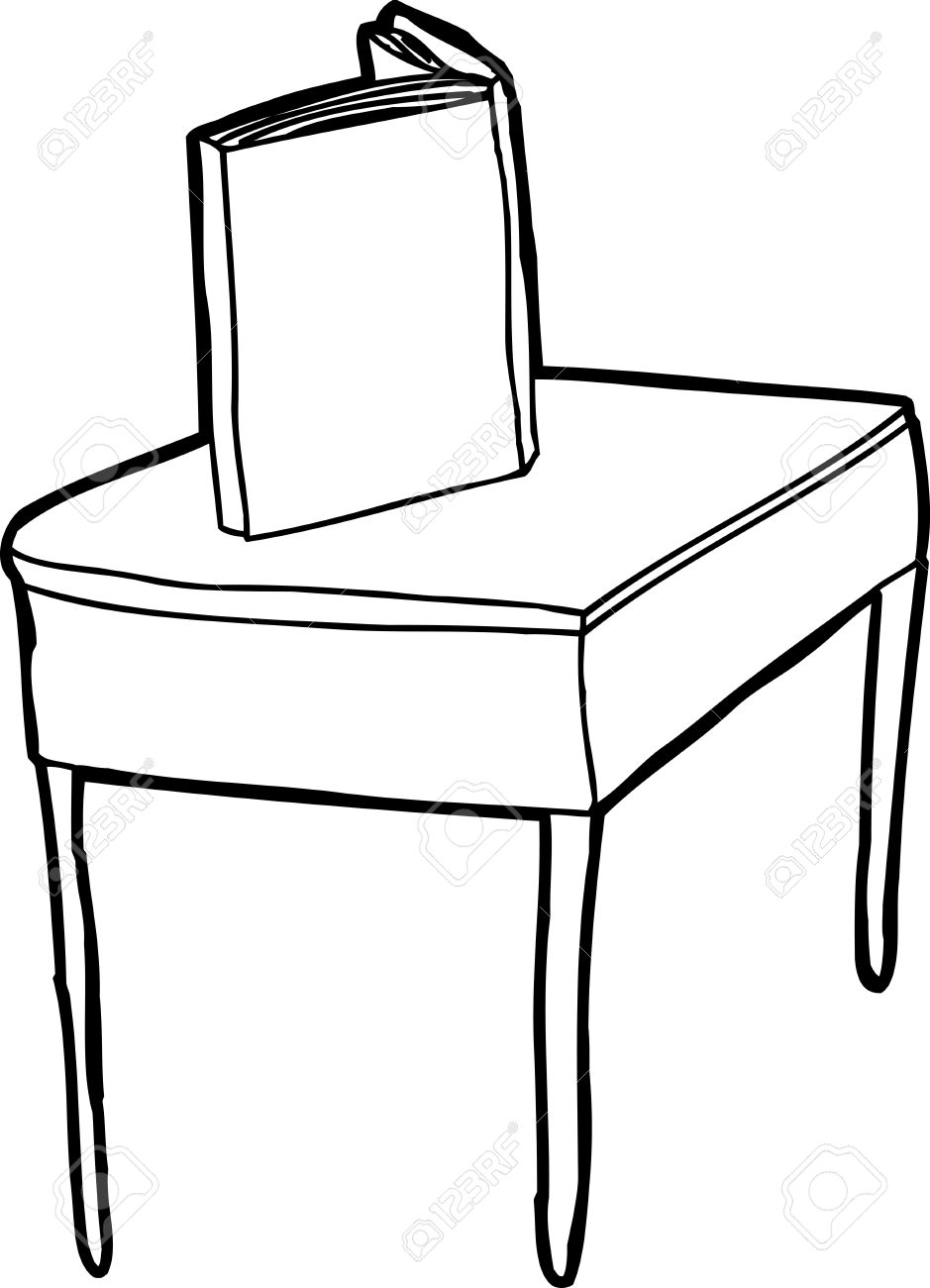Book On A Table Clipart.