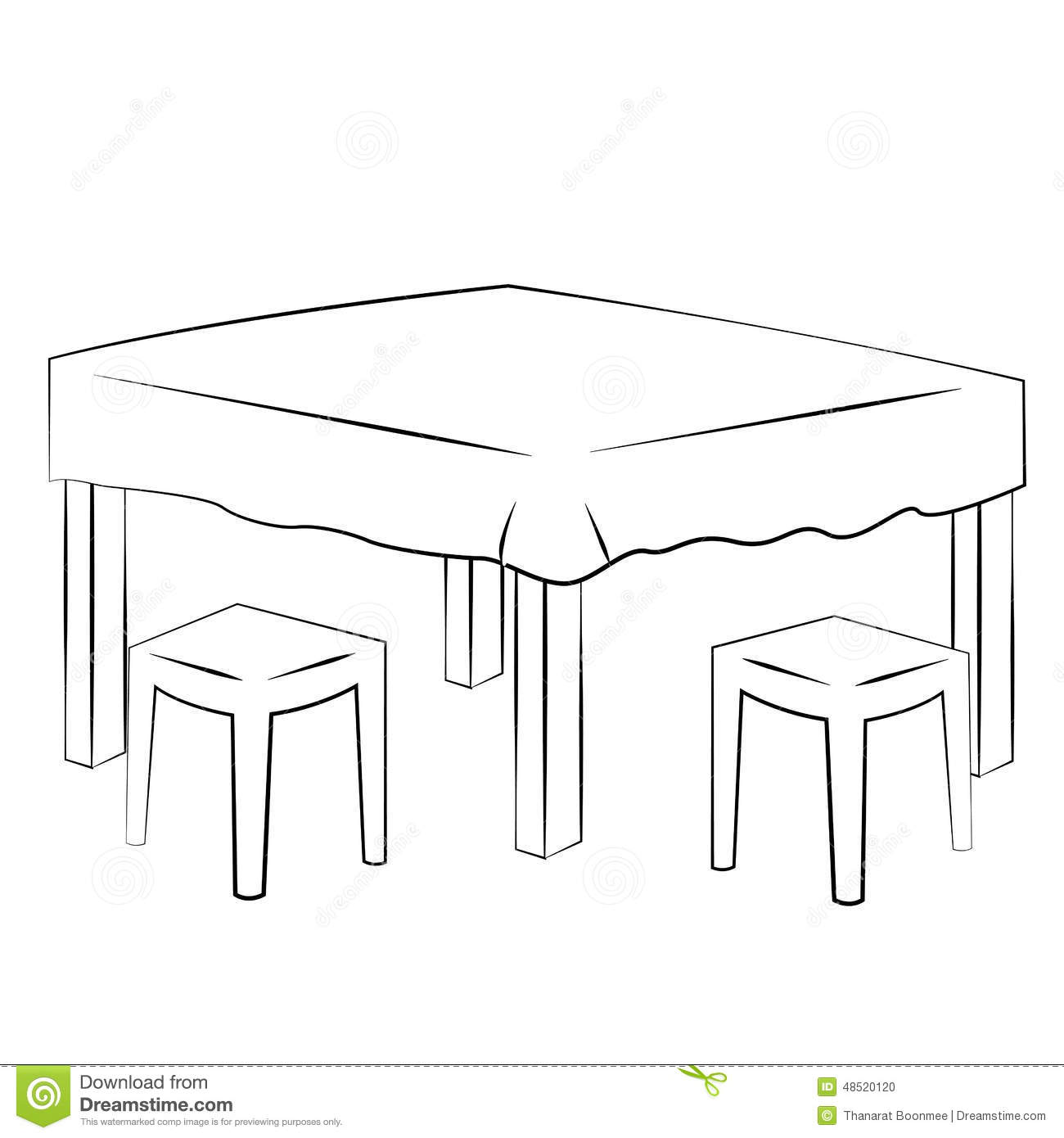 Is On The Table Clipart Black And White