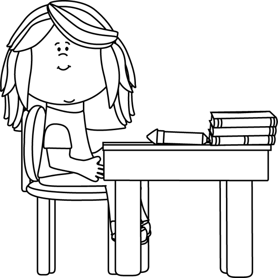 Book On The Table Clipart Black And White.