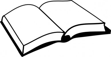 Open book outline clipart free clipart images image #15393.