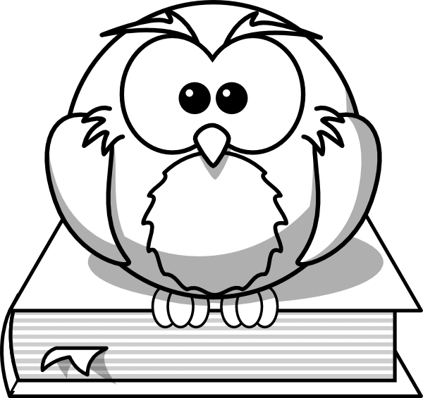 Owl On Book Outline Clip Art at Clker.com.