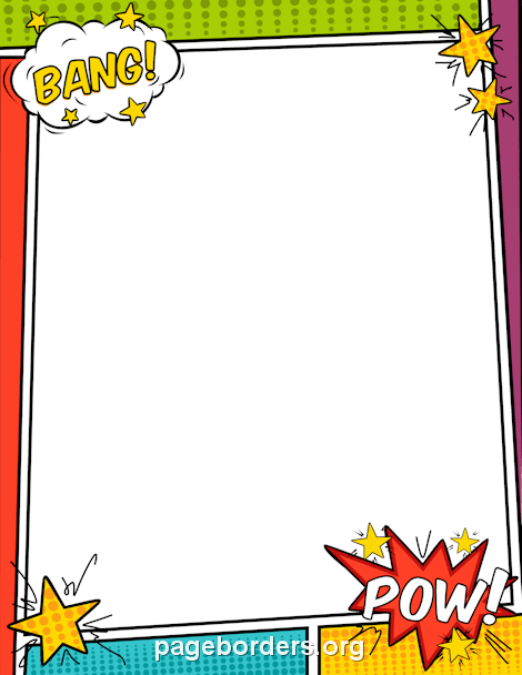 Comic Book Border: Clip Art, Page Border, and Vector Graphics.