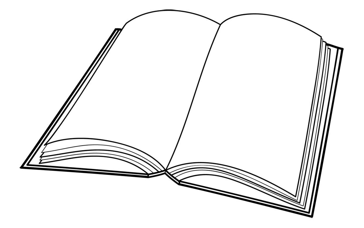 Clip Art Book Page Clipart.