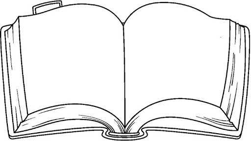 Book with open pages clipart.