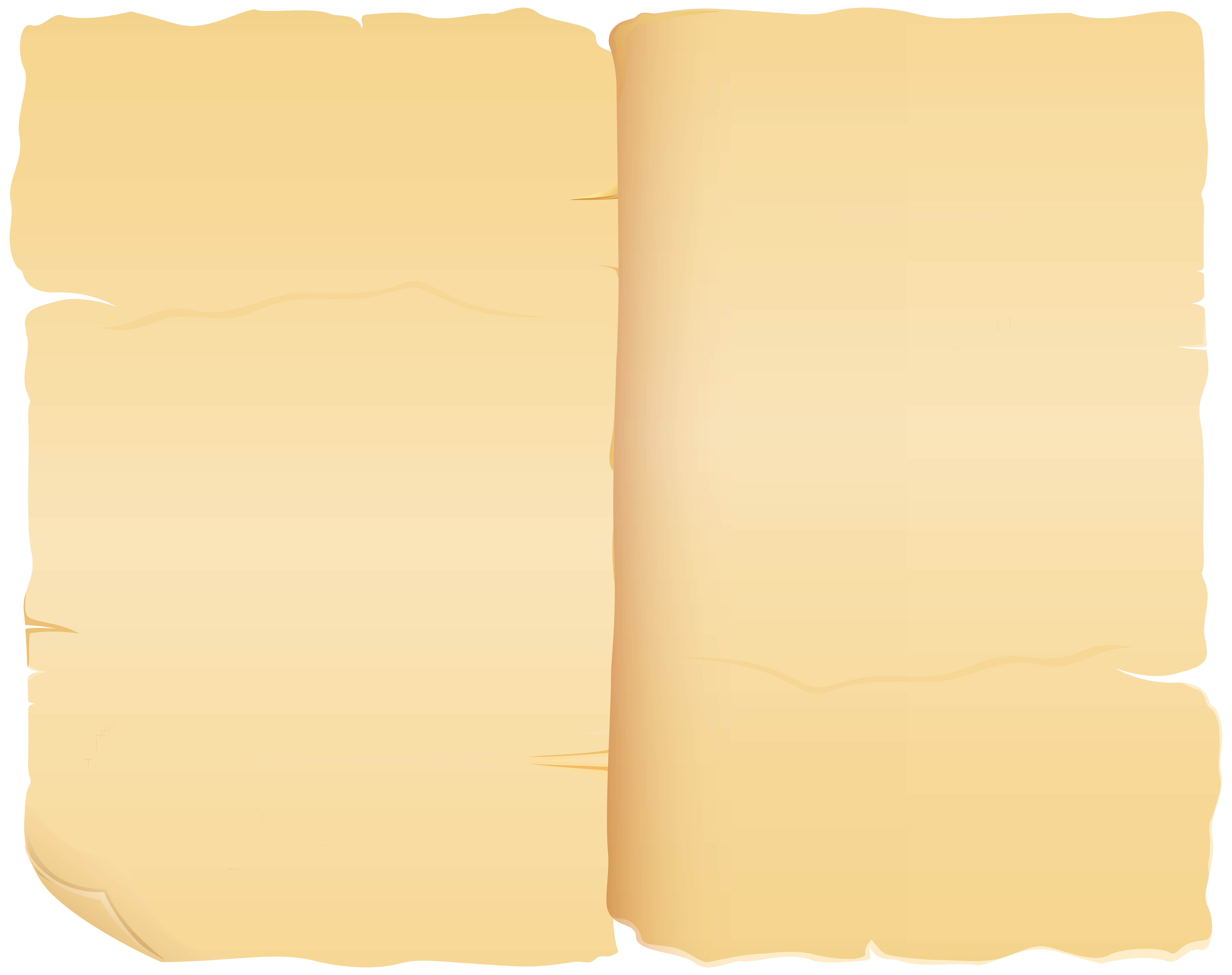 Old Book Blank Pages PNG Clip Art Image.
