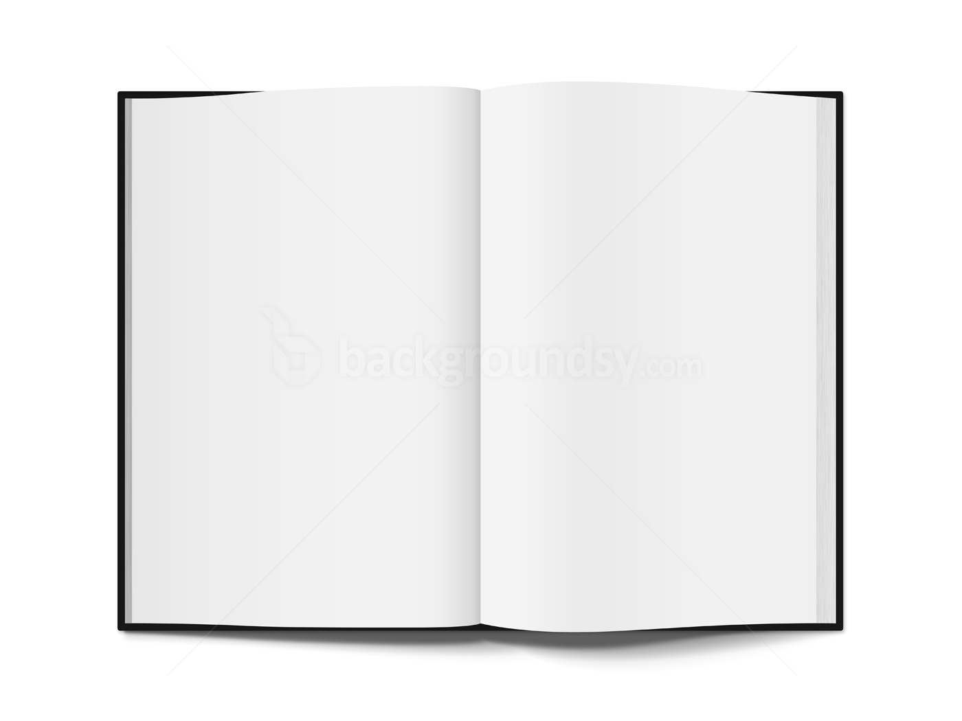 Open book template PNG.