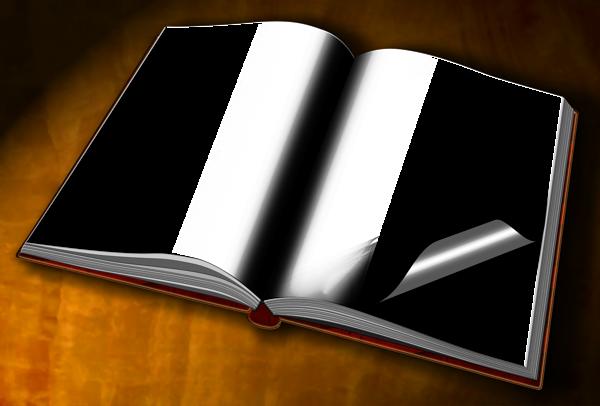 Transparent Book Frame.