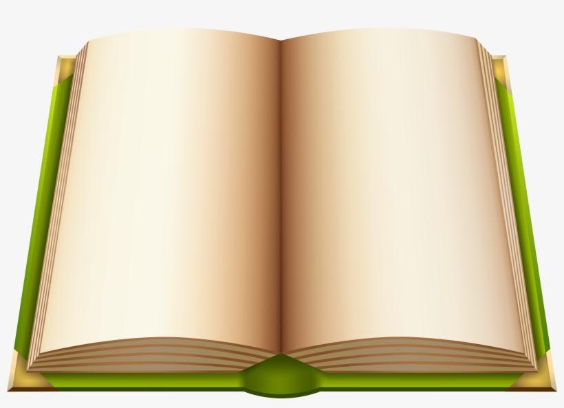 Green Open Book Png Clipart.