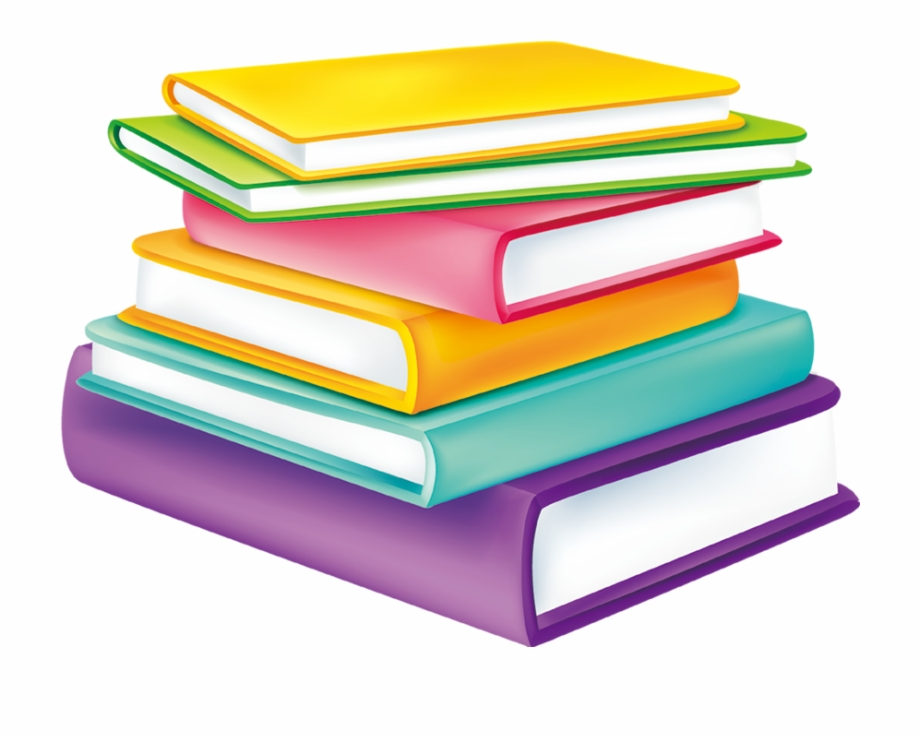 Stacked Color Together Cartoon Watercolor Book Books.