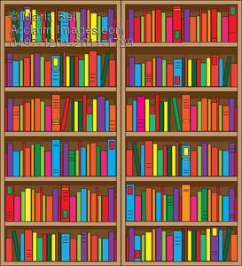 Bookshelf Clipart.