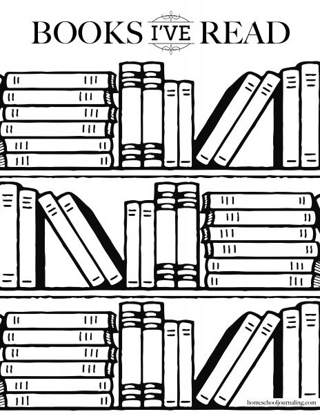 Books I've Read Reading Log Printable.