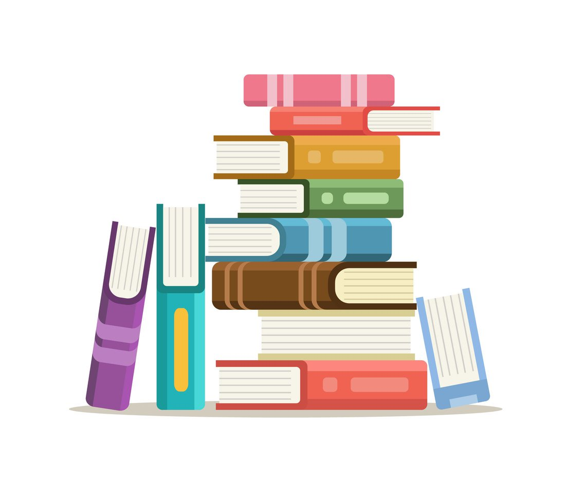 Stack Of Books Clipart Vector Vector Art & Graphics.