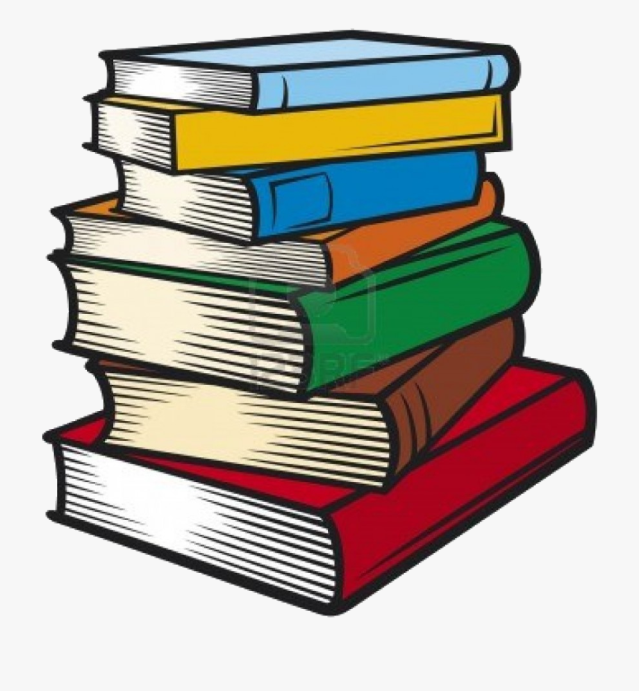 Book Stack Of Books Clip Art Transparent Png.