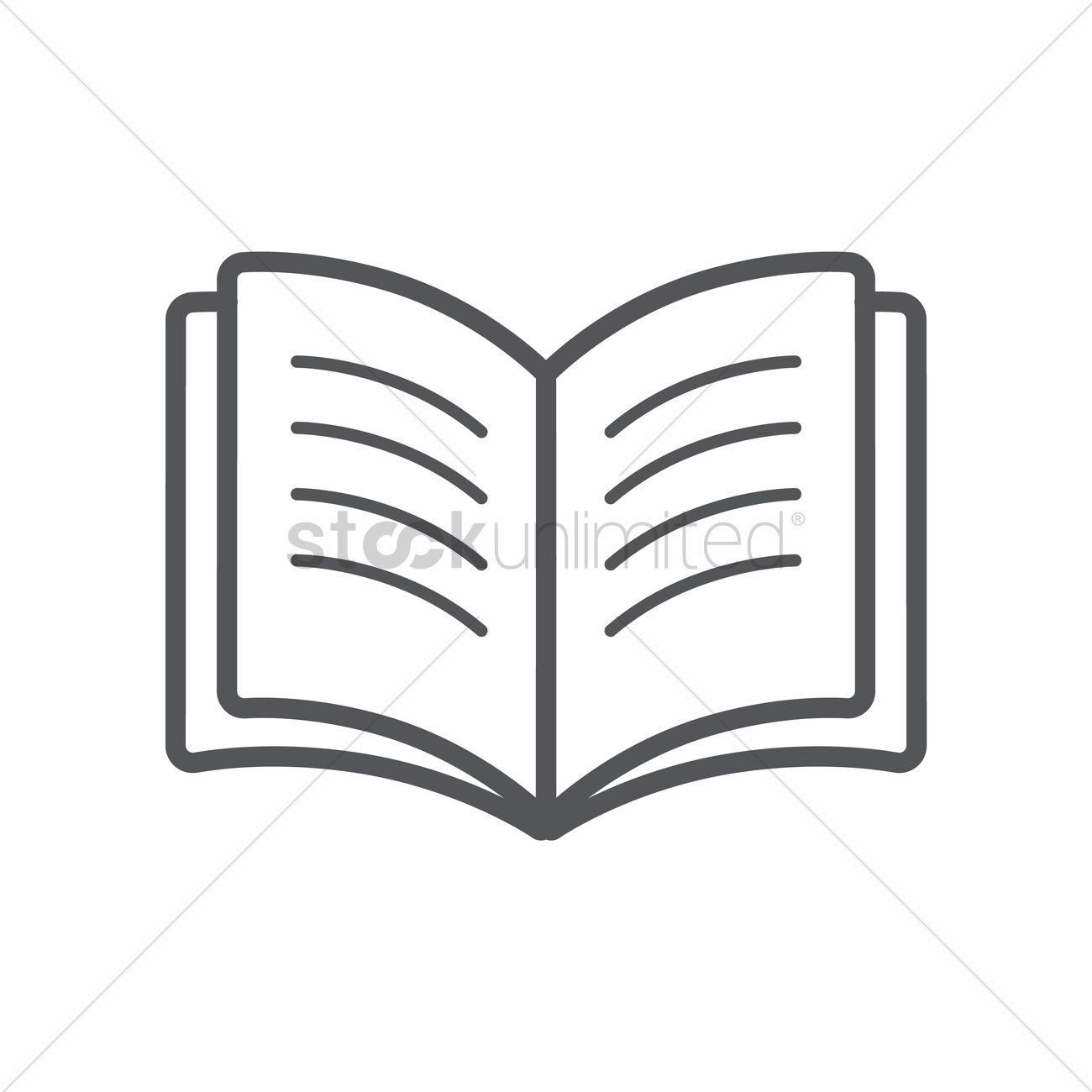 Open book Vector Image.
