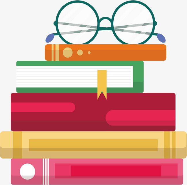 A Stack Of Books, Vector Png, Book, Book Pile PNG and Vector with.