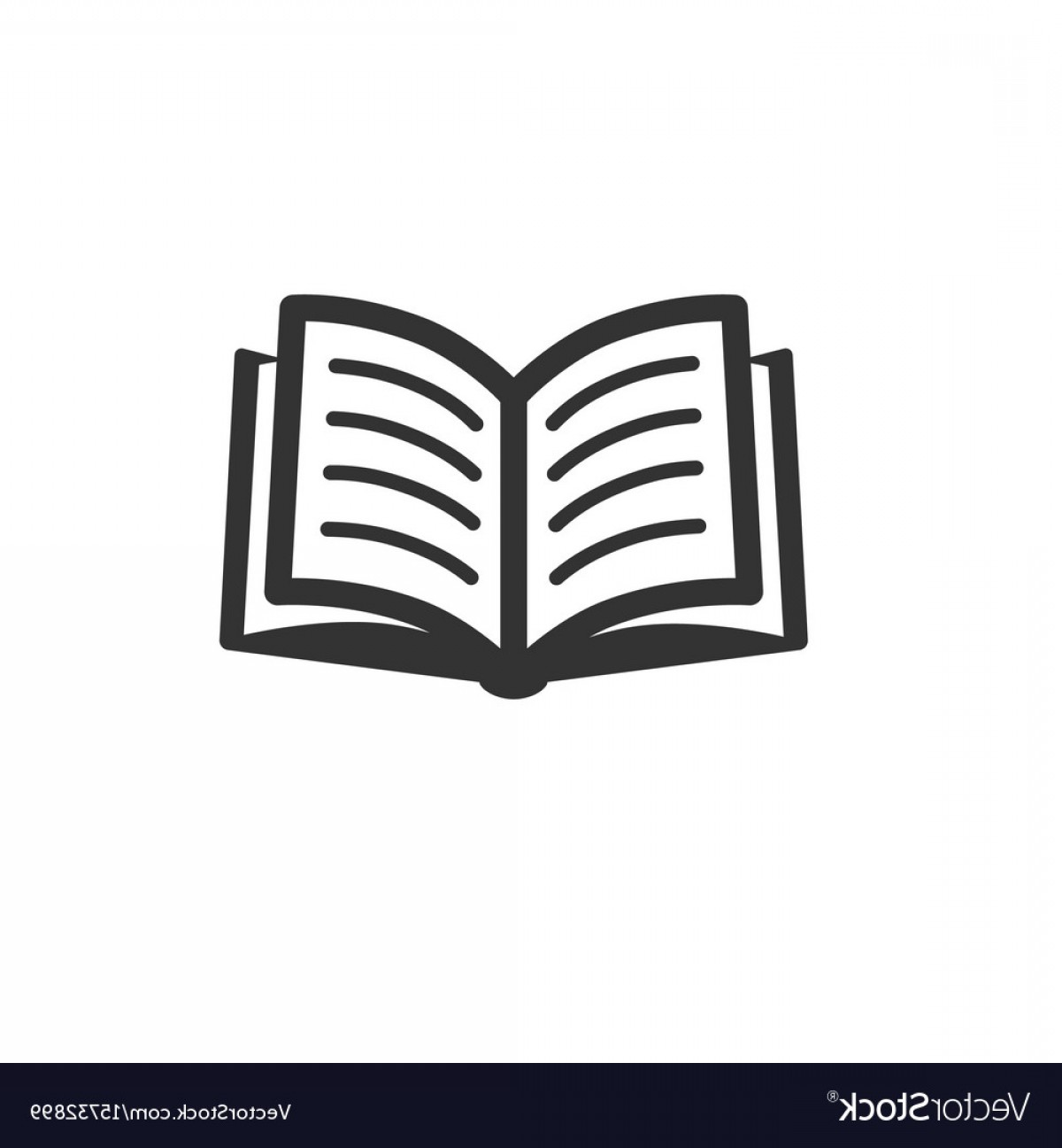 Book Icon Isolated On White Vector.
