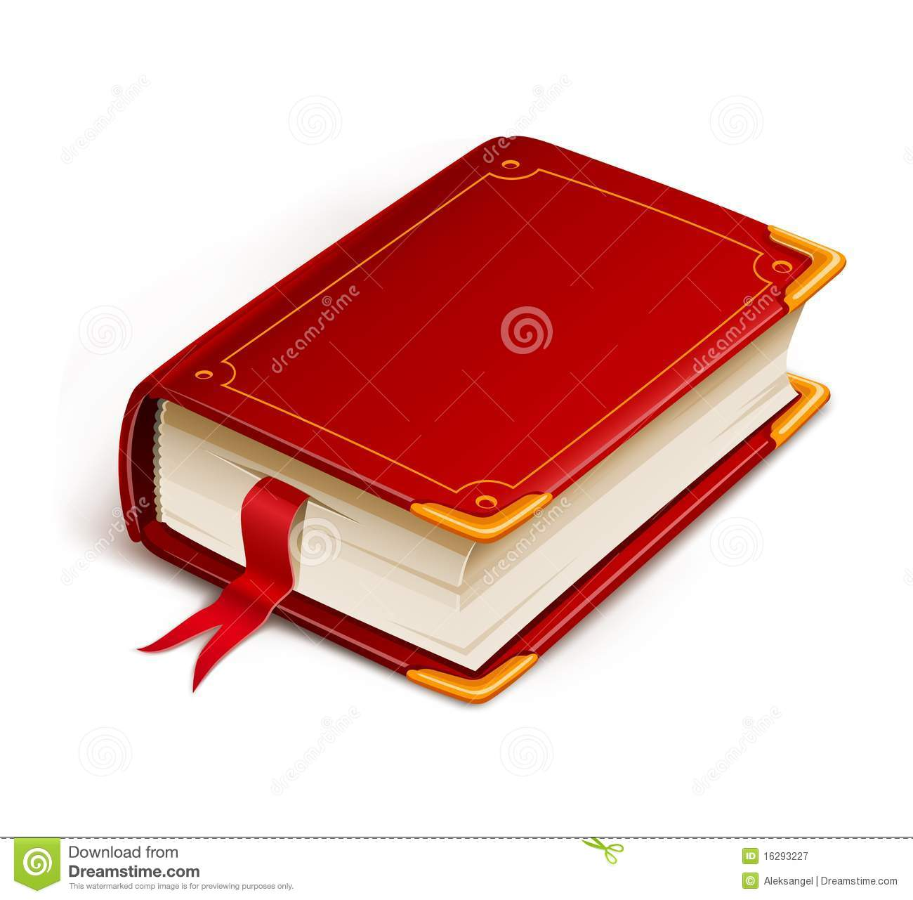 Old book with bookmark stock vector. Illustration of empty.
