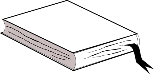 Book with bookmark.