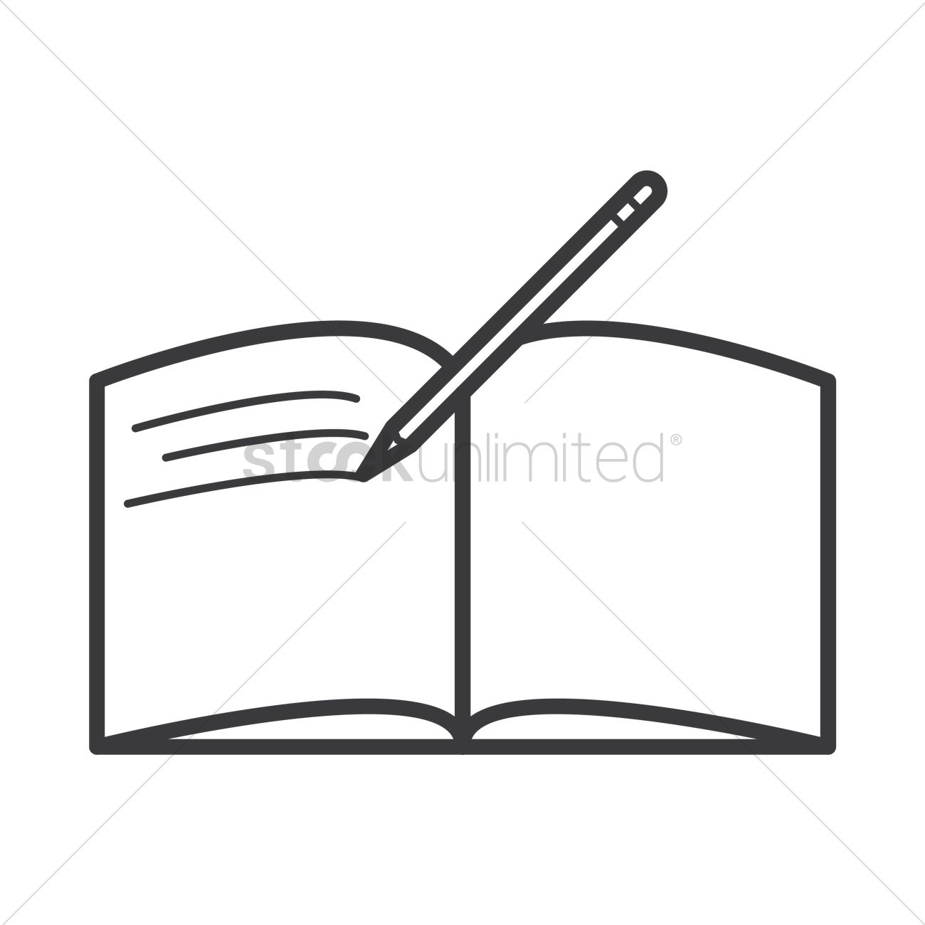 Open Book And Pen Clipart.