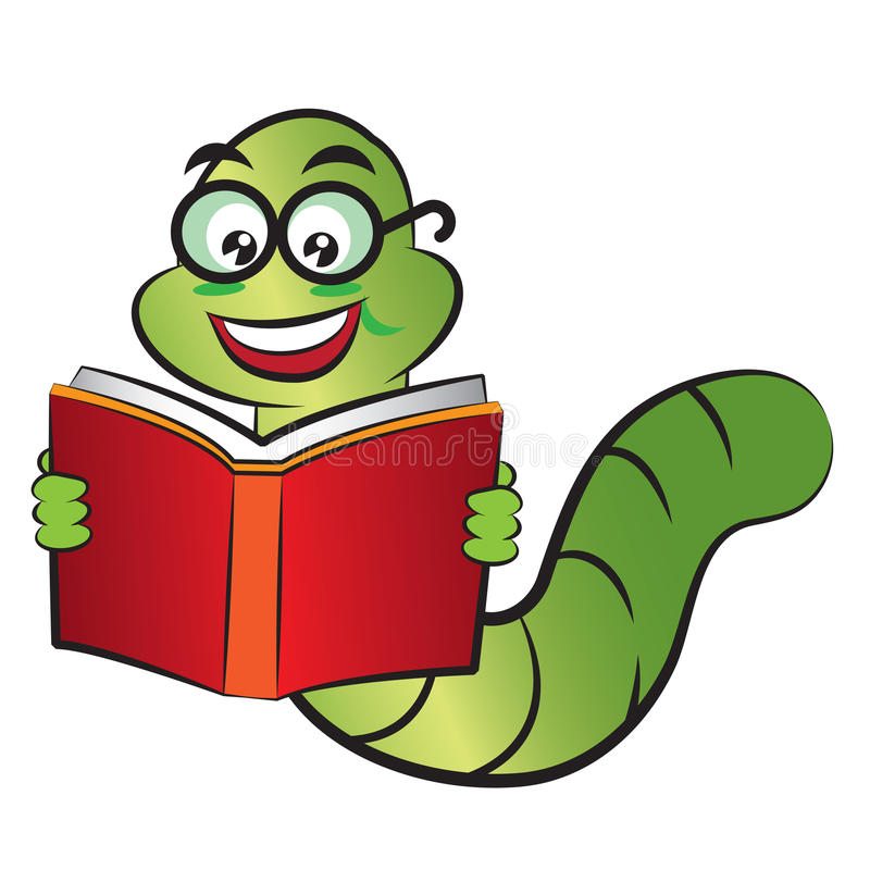 Bookworm Stock Illustrations.