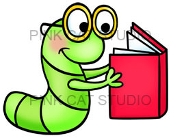 96+ Book Worm Clipart.