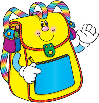 Kid with backpack clipart free clipart images 2.