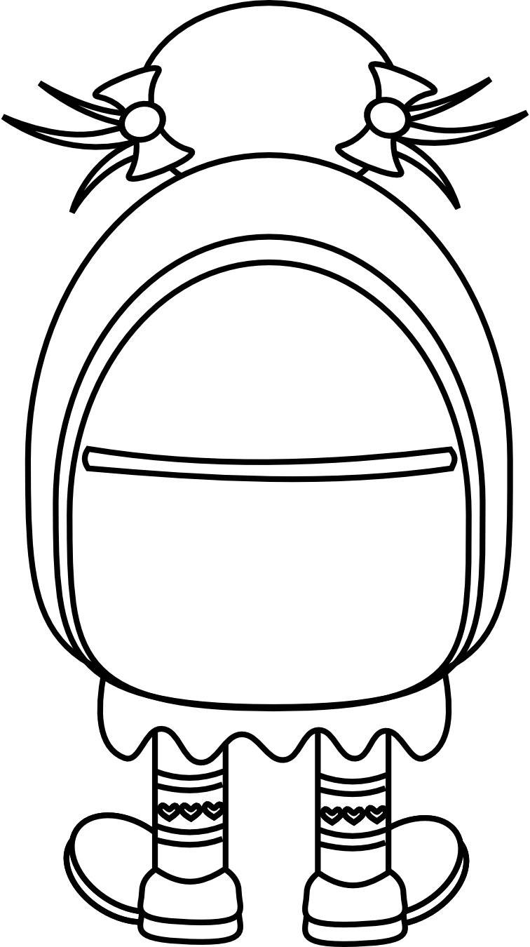 bookbag clipart black and white 20 free Cliparts ...