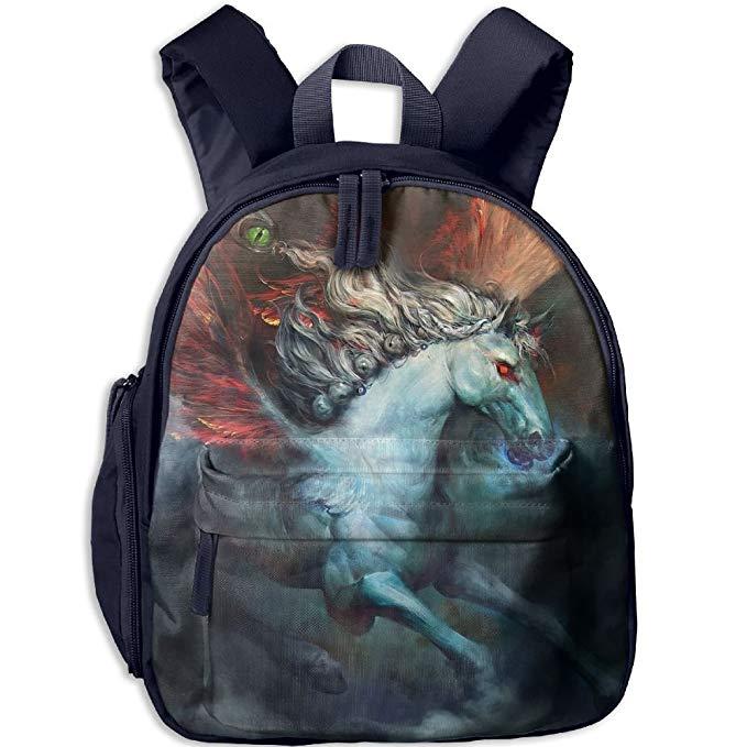 Fire Wings Pegasus Horse.png 3D Printed Bookbag Backpack Travel Bag.