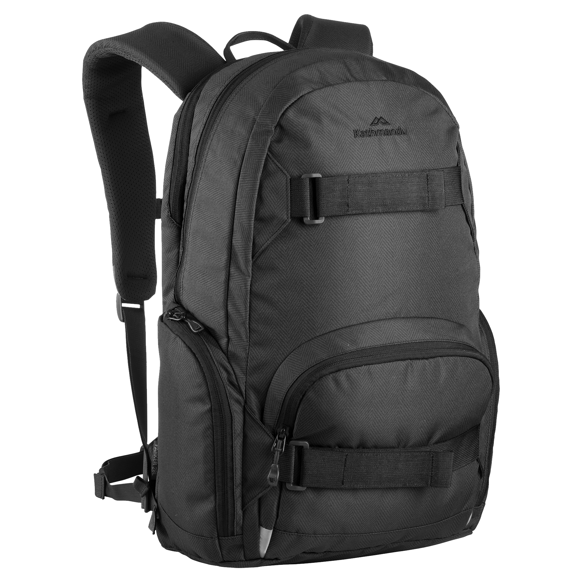 Kathmandu Black Backpack PNG Image.