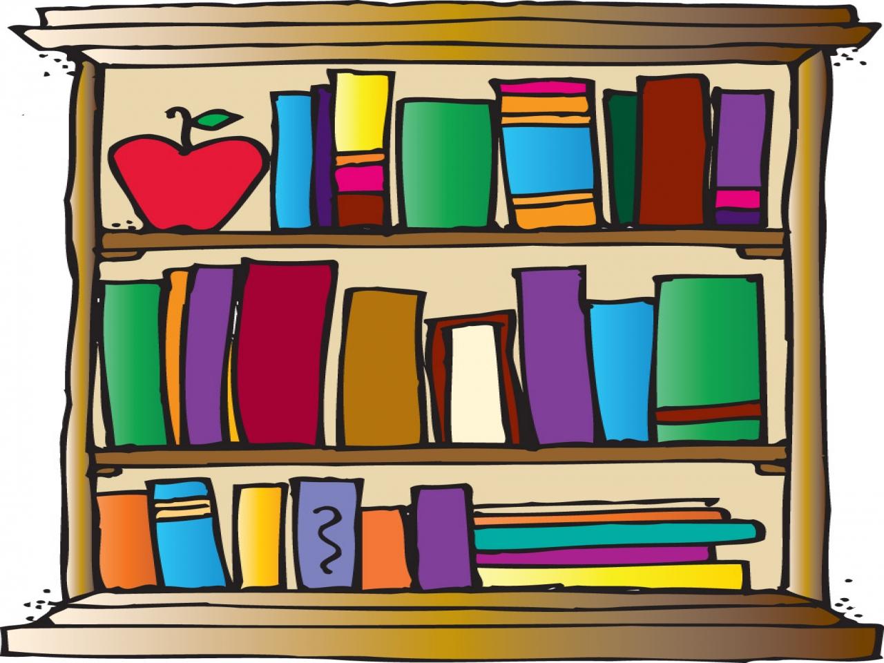 Clipart bookshelf design.