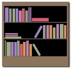 Free bookcase Clipart.
