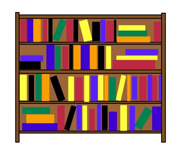 Image of Bookcase Clipart #5127, Bookcase Clip Art.