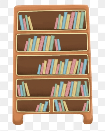 Bookshelf PNG Images.