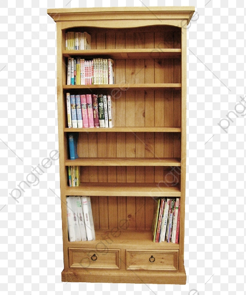 Wood Bookcase, Wood Clipart, Product Kind, Bookcase PNG Transparent.