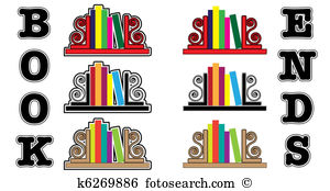 Bookend Clip Art Vector Graphics. 13 bookend EPS clipart vector.