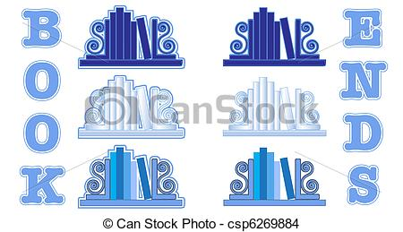 EPS Vector of Blue Bookend icons.