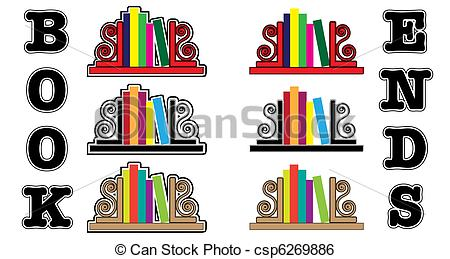 Bookends Clipart.