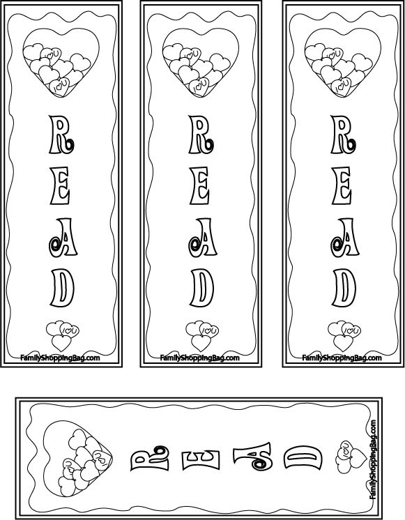 bookmark clipart black and white