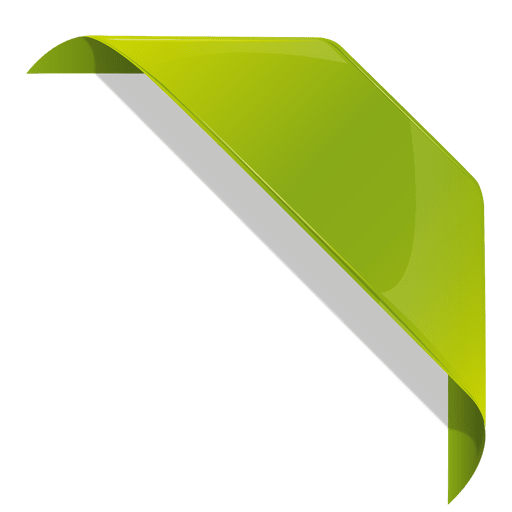 Green bookmark ribbon.