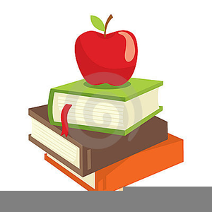 Books And Apples Clipart.