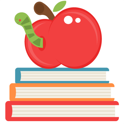 Apple On Books SVG Scrapbook Cut File Cute Clipart Files For Cheap.