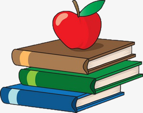 Books and apple clipart » Clipart Station.